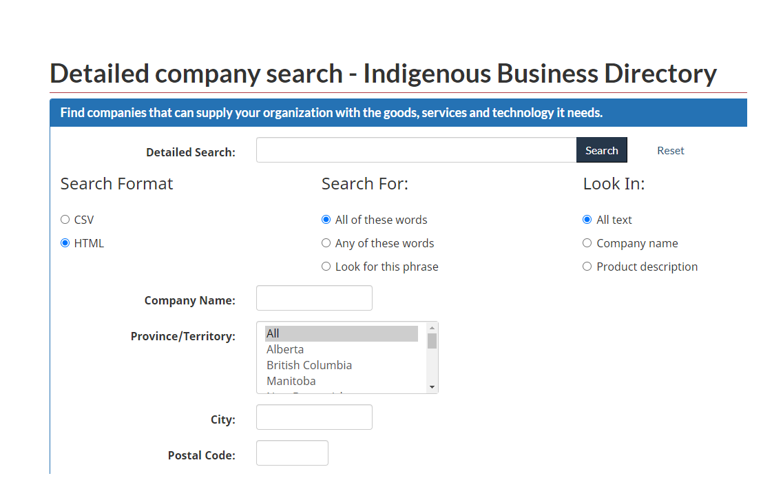 Indigenous Business Directory