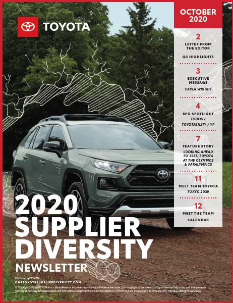 Toyota Newsletter October 2020 Supplier Diversity
