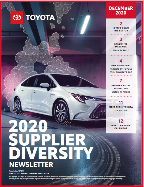 Toyota Newsletter Final 2020 Supplier Diversity