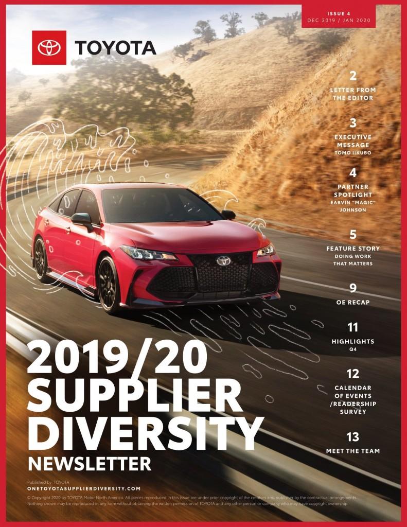 Toyota 2019/20 Supplier Diversity Newsletter